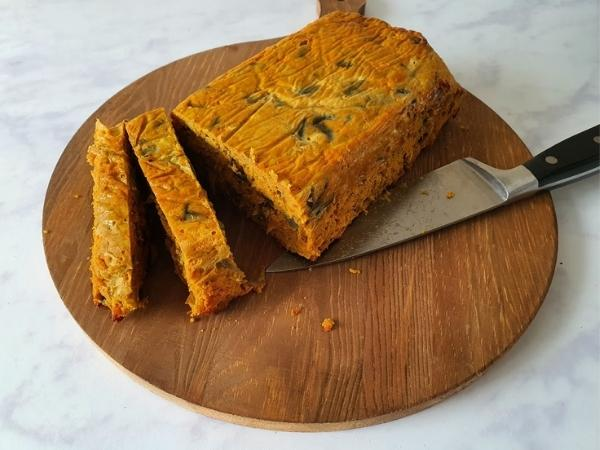 curry loaf sliced for a slimming world summer meal