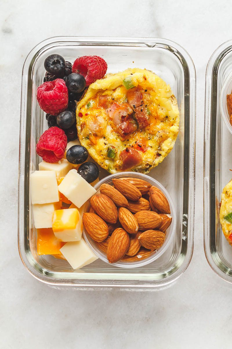 Easy Keto Meal Prep Breakfast - Packed with protein and so convenient for busy mornings, this is the perfect make-ahead option for on the go.